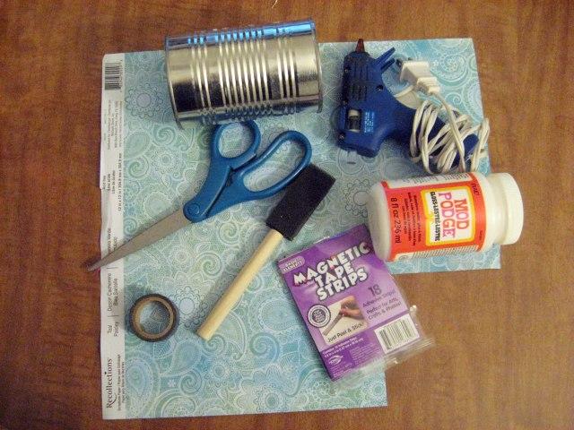 tin can pen holder materials