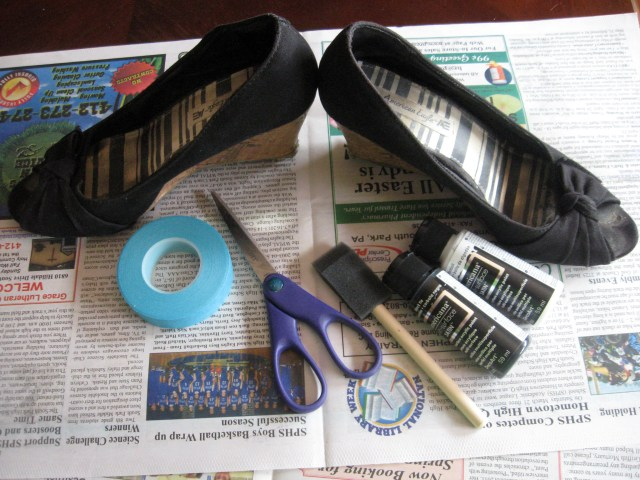 materials for DIY upcycled heels