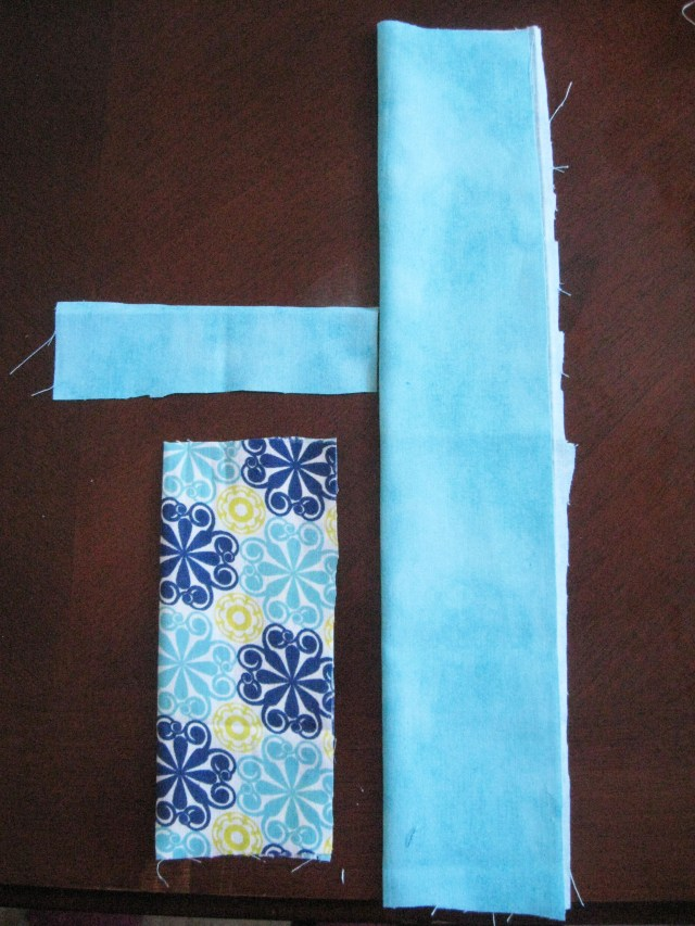 pencil holder fabric pieces