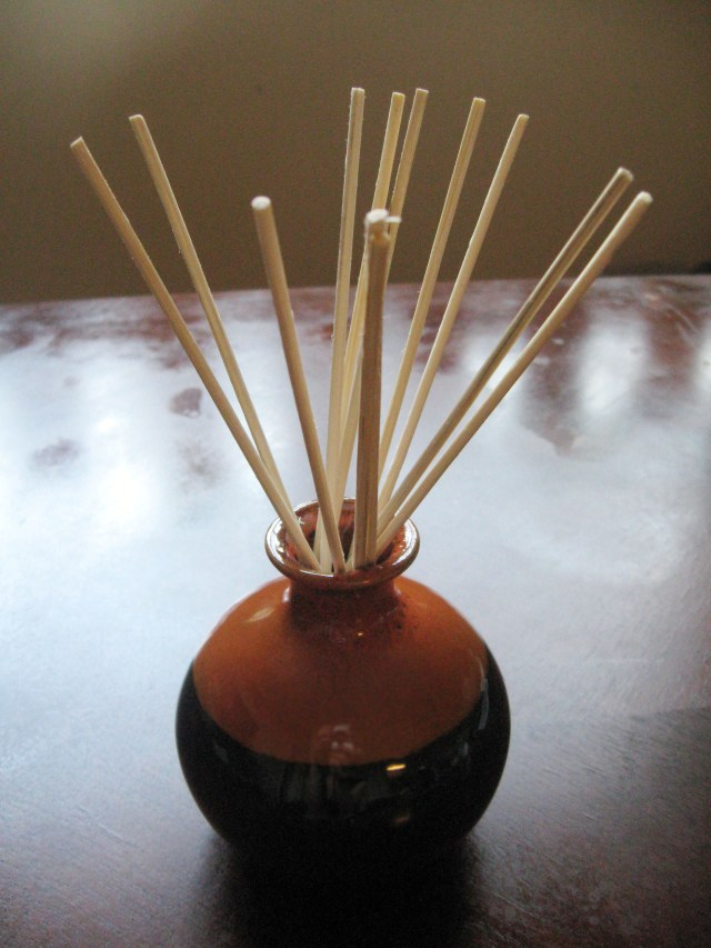 DIY almond cookie reed diffuser