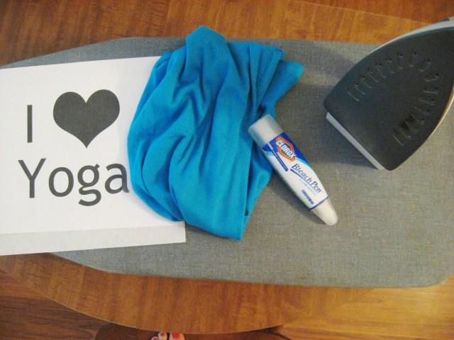 DIY yoga shirt materials