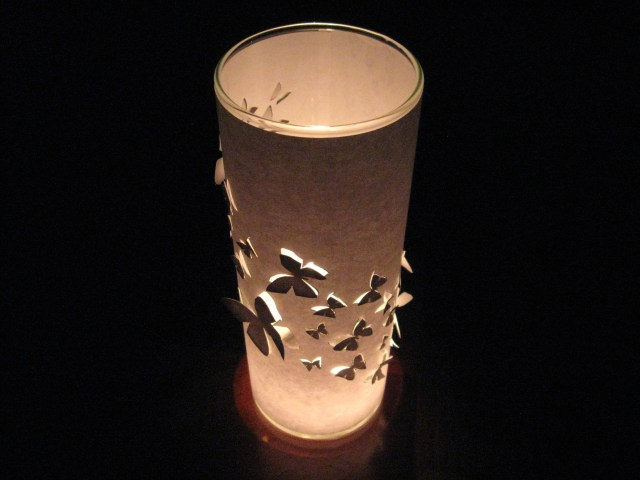 butterfly candle wrap