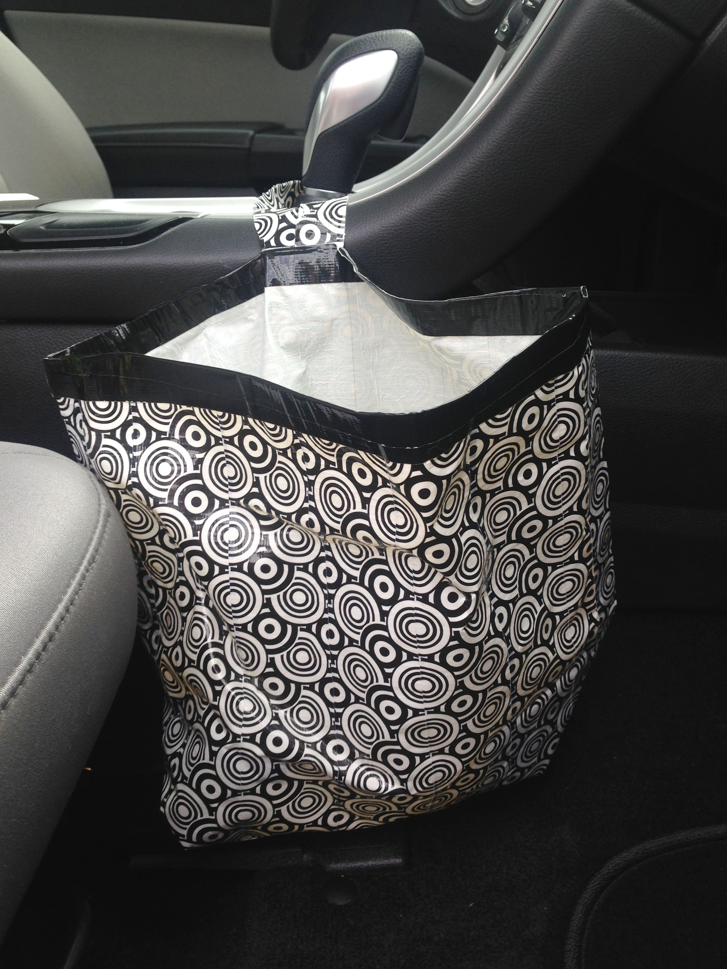 Duct Tape Craft Diy Car Garbage Bag Make Something Mondays