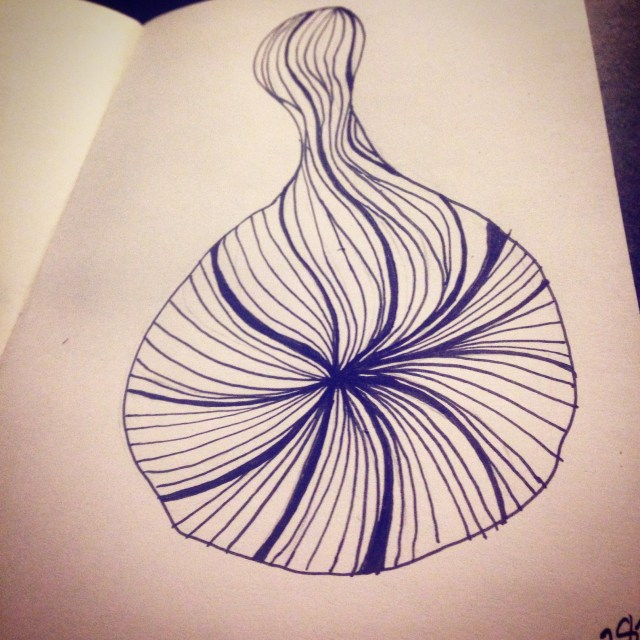 abstract swirl drawing inktober