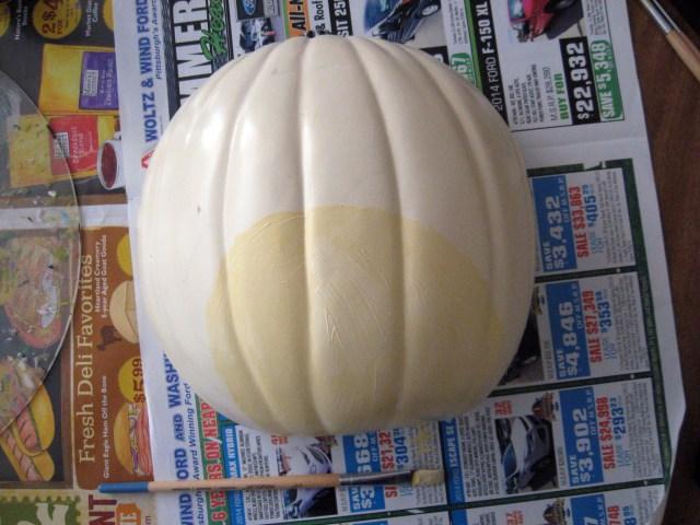 light paint pumpkin