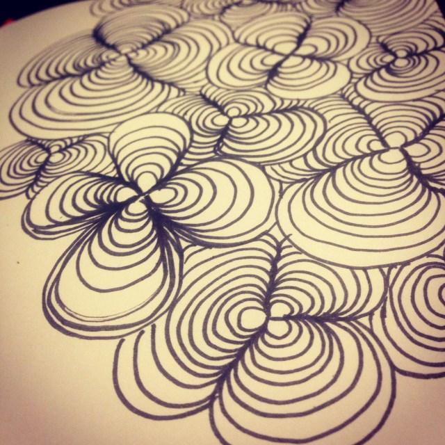 zentangle flower drawing inktober