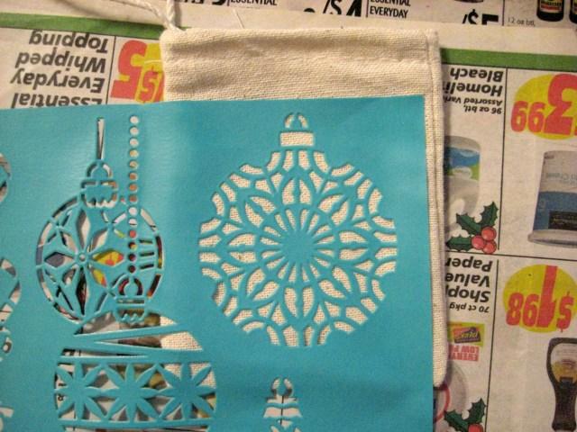 Stencil gift bag