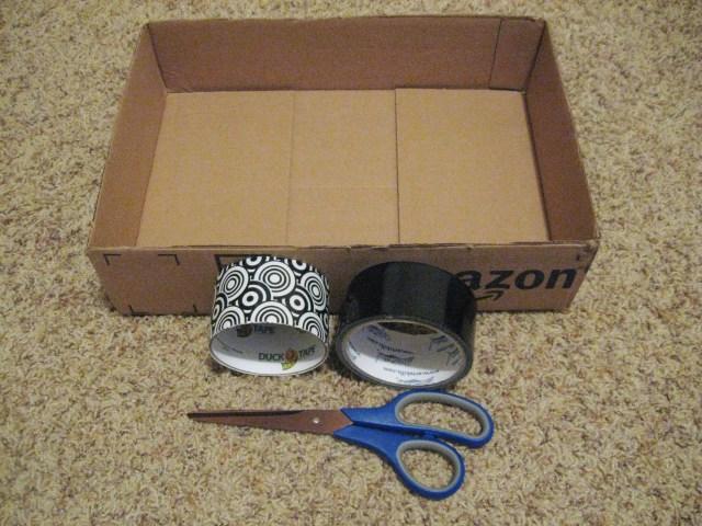 upcycled storage box materials