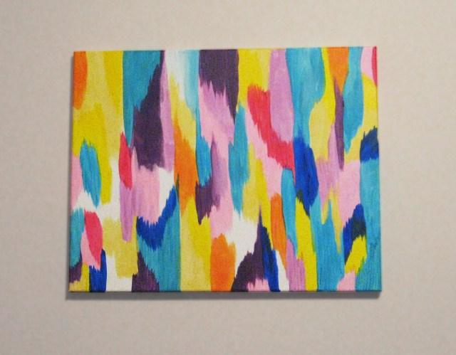 DIY spring-inspired abstract wall art