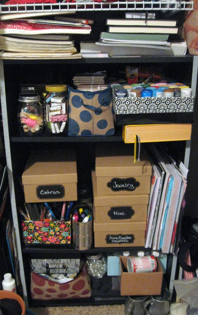 Craft storage for small spaces