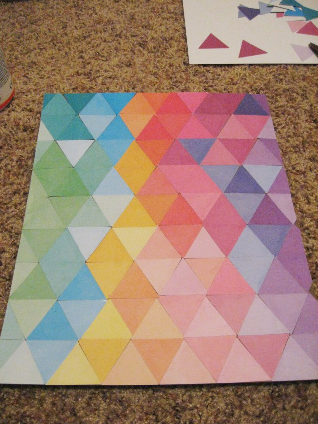 triangle art with clean edges
