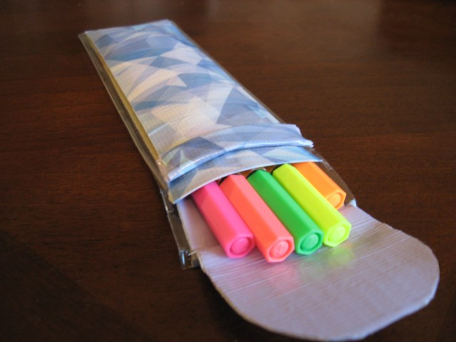 DIY duck tape pencil case