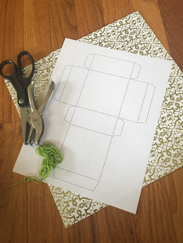 materials needed for scrapbook paper gift boxes