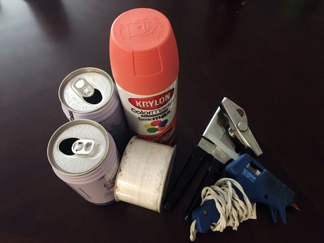 upcycled tin can materials