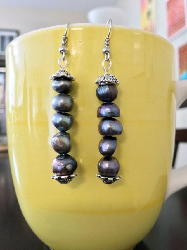 DIY bead string earrings