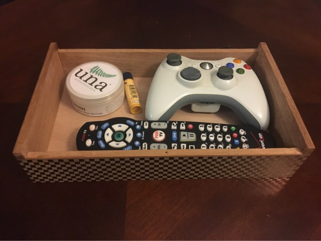 DIY remote organizer upcycle