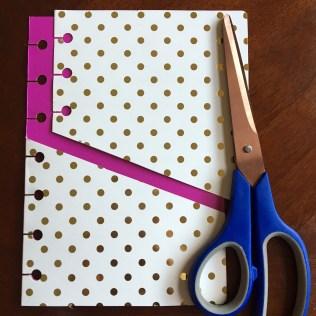 cut front end of folder