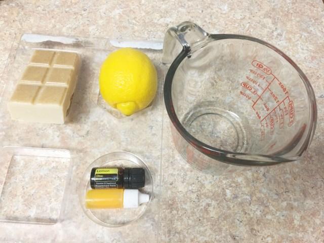 lemon zest soap supplies