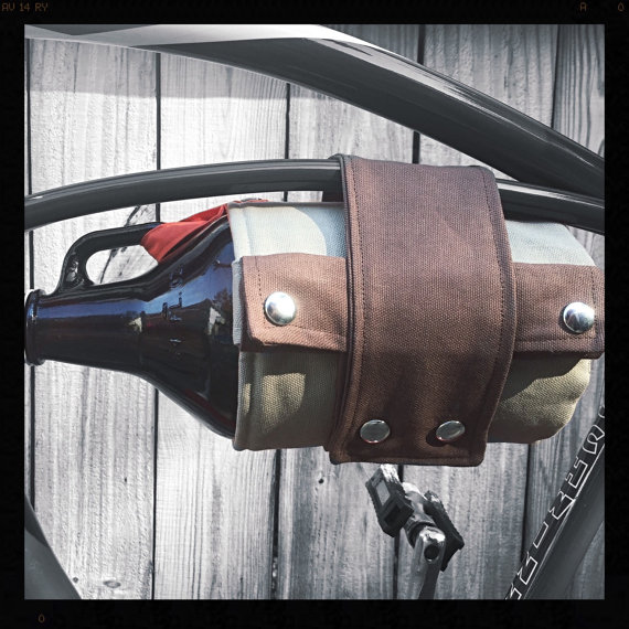 Insulated growler carrier for bikes - $44