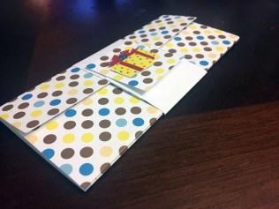 polka dotted gift card envelope