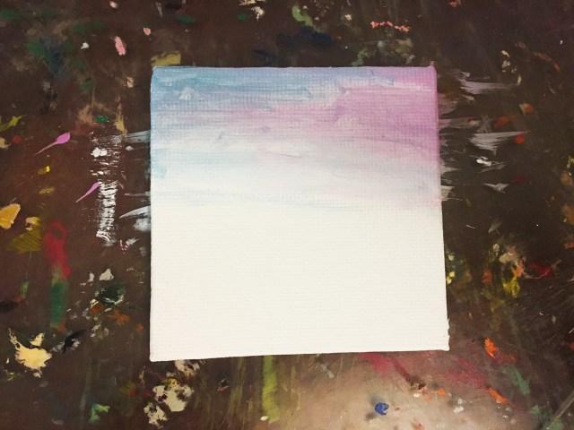 sunset painting tutorial