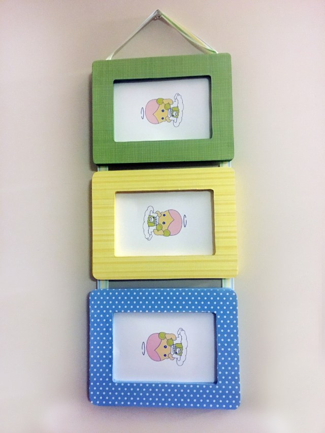 diy ribbon hanging wood frames