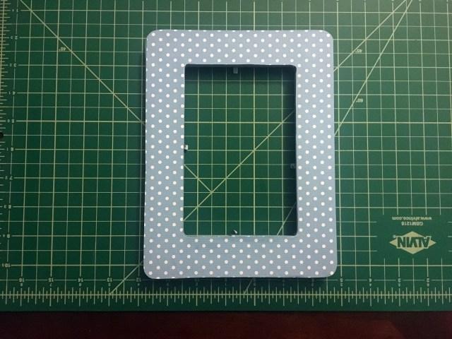 scrapbook paper decorated frame