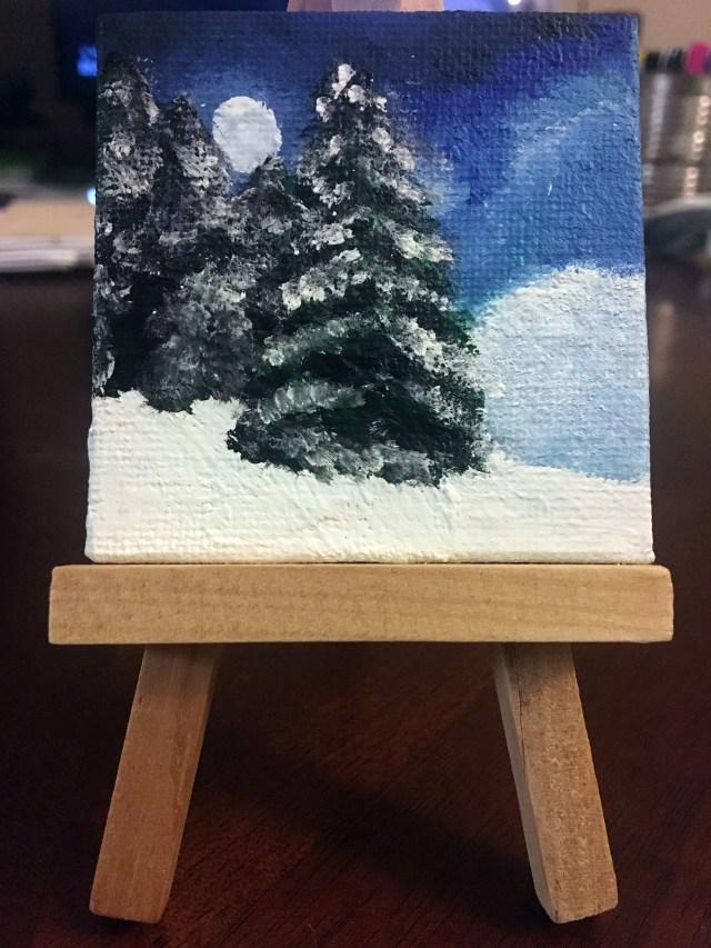 mini painting winter theme