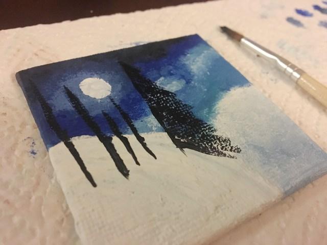 painting pine trees
