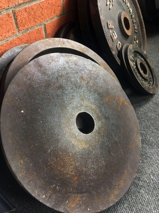 rusty olympic weight plates