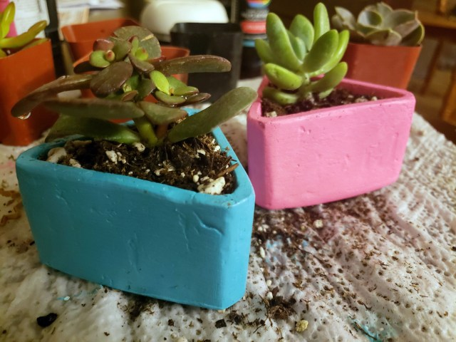 homemade triangle planter