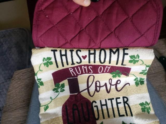 diy tea towel stitch witchery