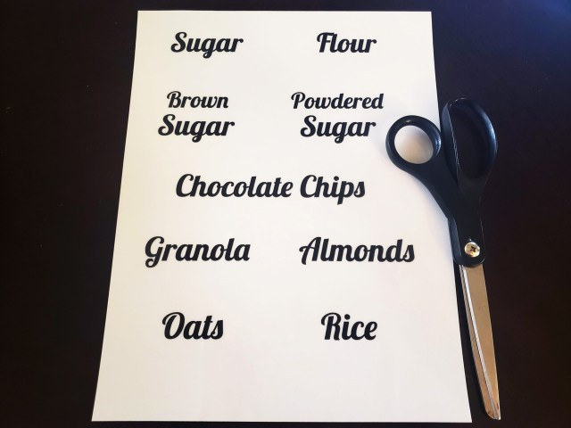 printable sticker labels for kitchen organization