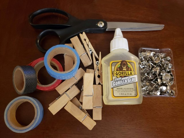 decorative clothespin supplies