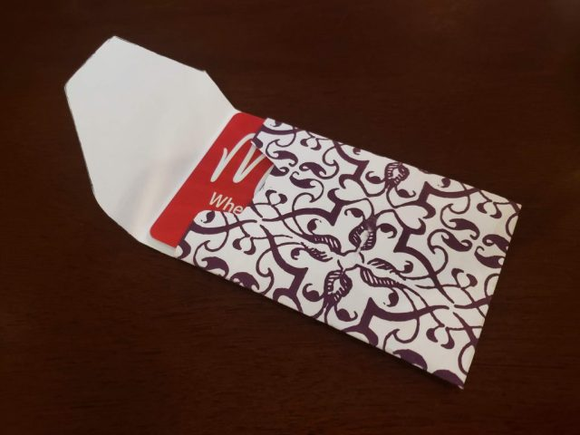 diy gift card envelope