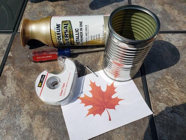 tin can fall lantern supplies