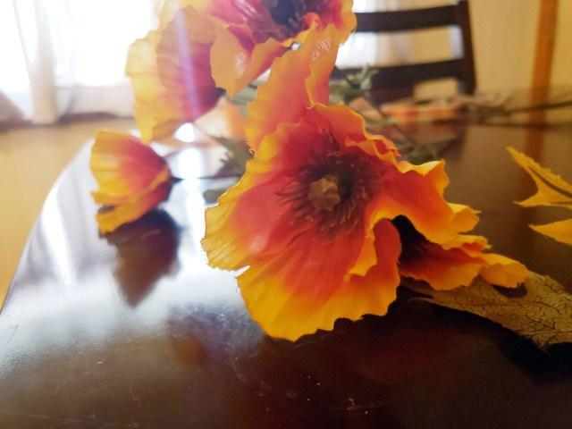 artificial flowers centerpiece