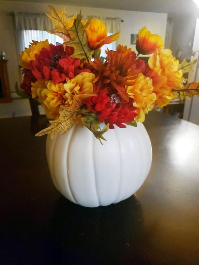 diy pumpkin vase home decor