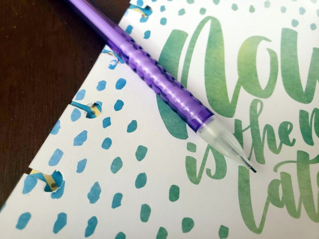 hole punching for your happy planner