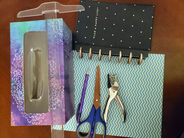 tissue box planner divider supplies