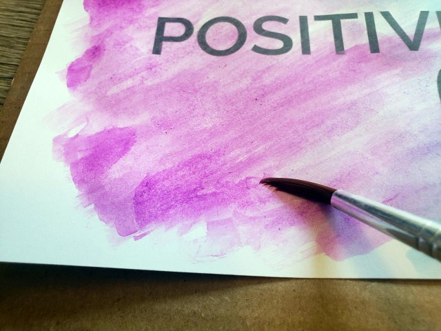 purple watercolor paint technique