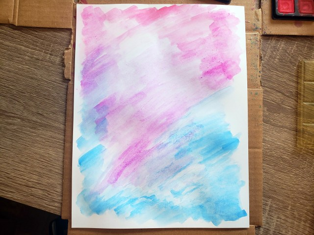 watercolor poster diy