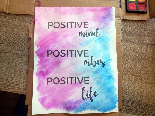 watercolor poster positive quotes