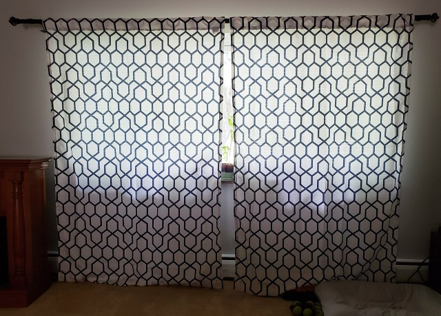 diy curtain rod makeover