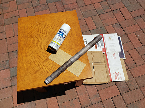 supplies to paint end tables