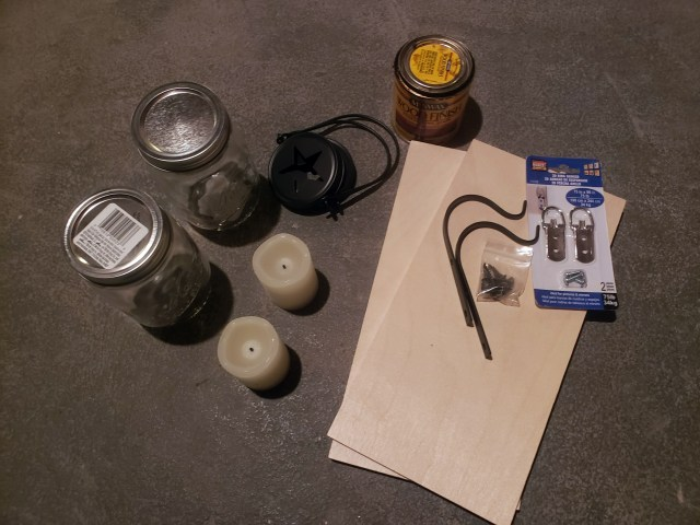 mason jar lantern craft supplies
