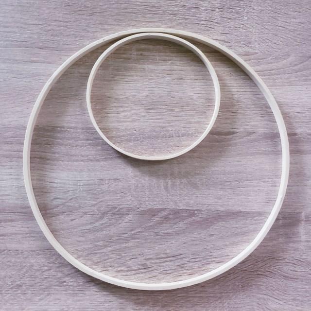 double hoop diy wreath