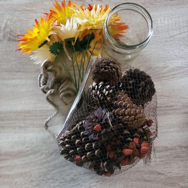fall vase supplies