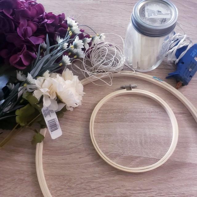 hoop wreath supplies