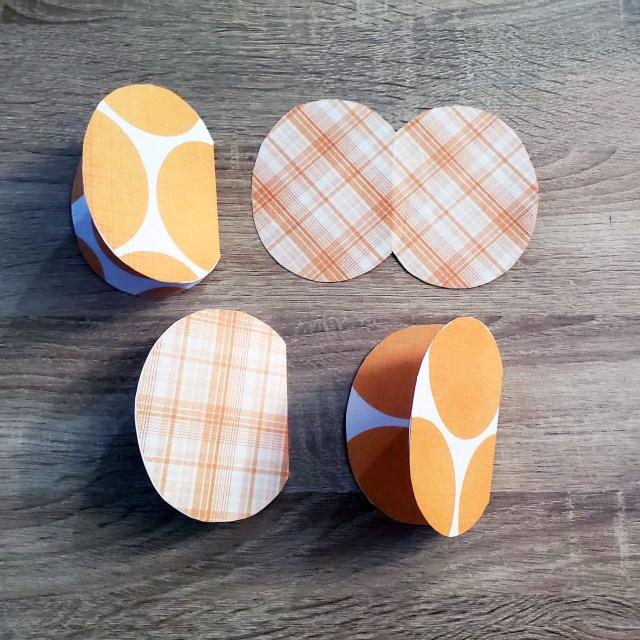 orange scrapbook paper pumpkin patterns